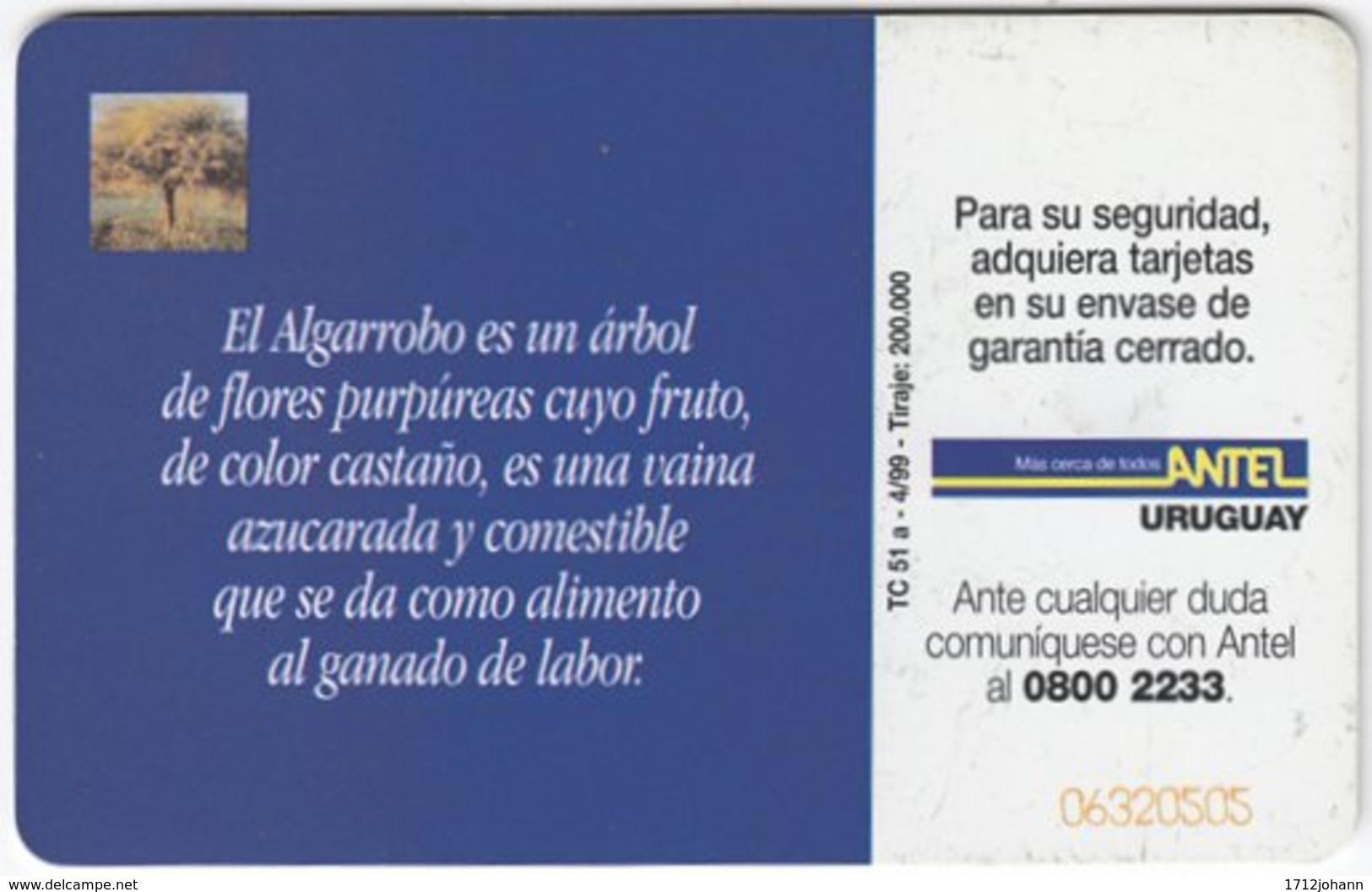 URUGUAY A-239 Chip Antel - Plant, Tree - Used - Uruguay