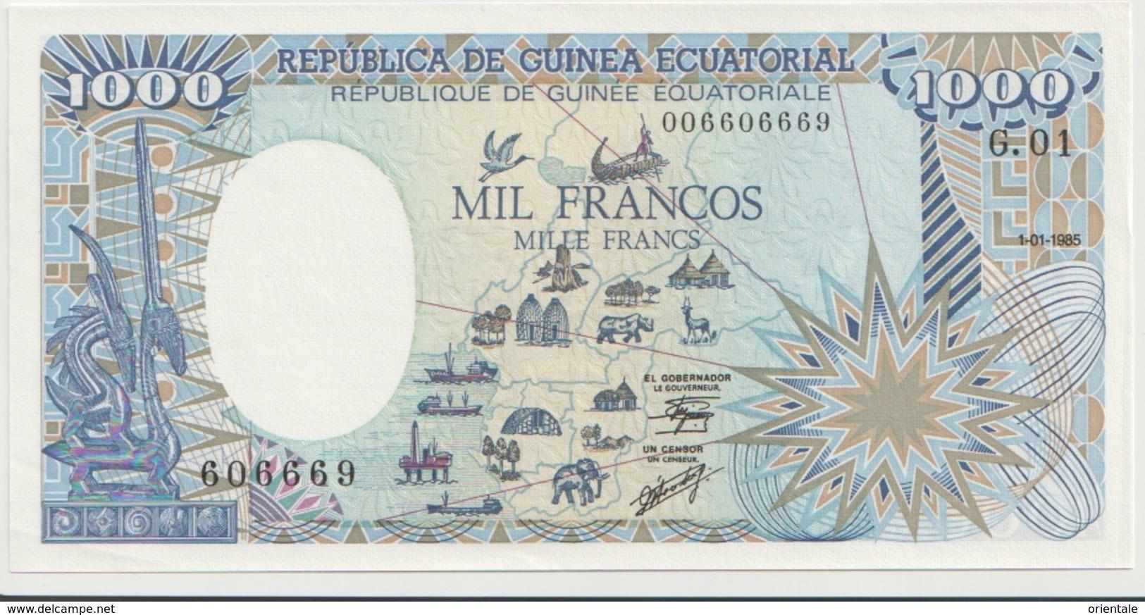 EQUATORIAL GUINEA P. 21 1000 B 1985 XF - Guinea Ecuatorial