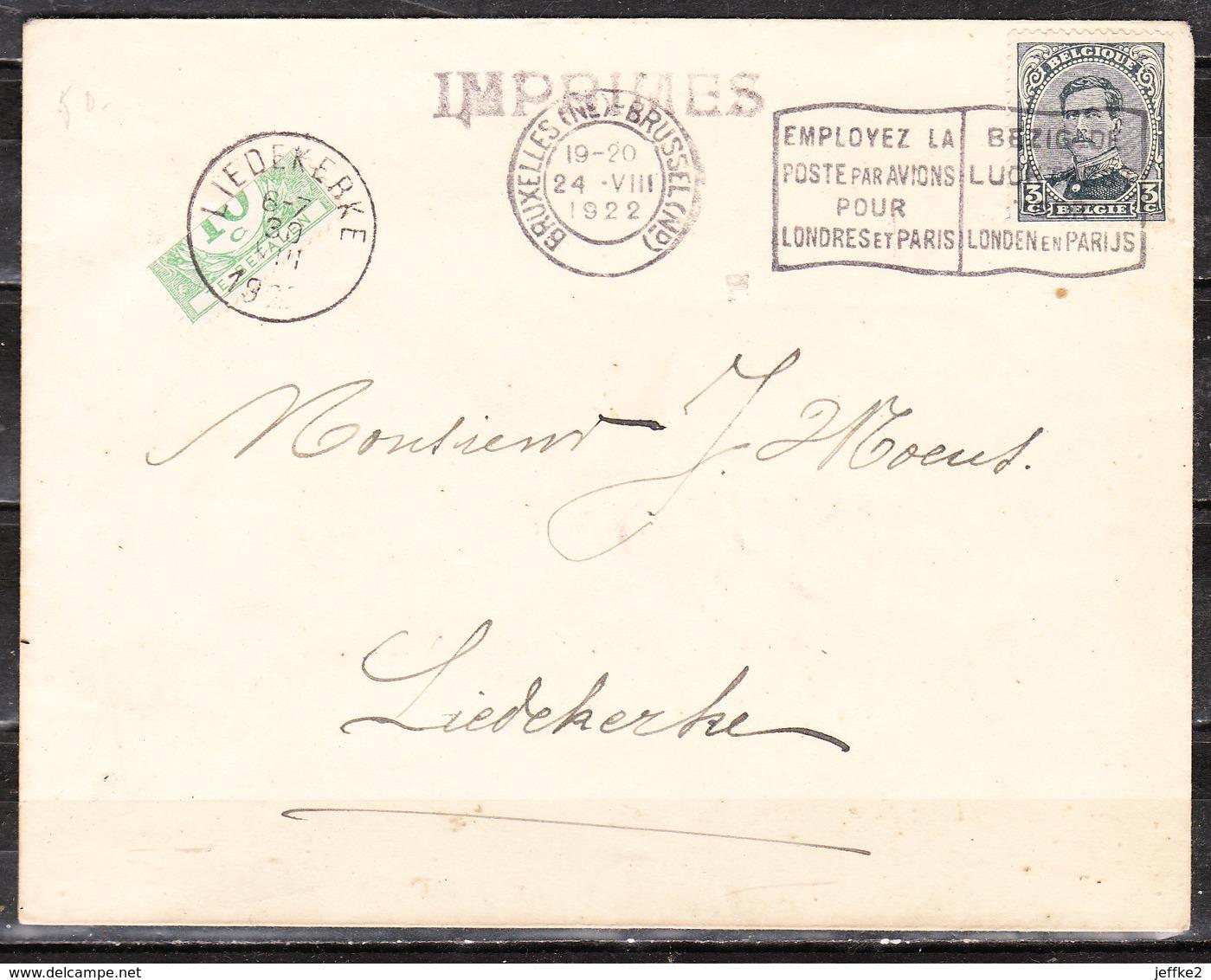 TX33  Demi-timbre Sur Lettre De Bruxelles Pour Liedekerke - LOOK!!!! - Postage Due