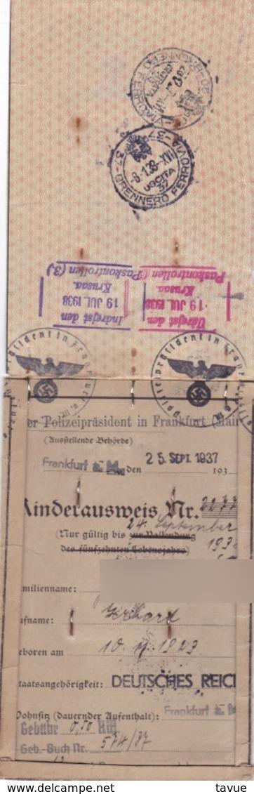 Kinderausweis Und Schwimmzeugnis Aus Dem 3. Reich - Historische Dokumente