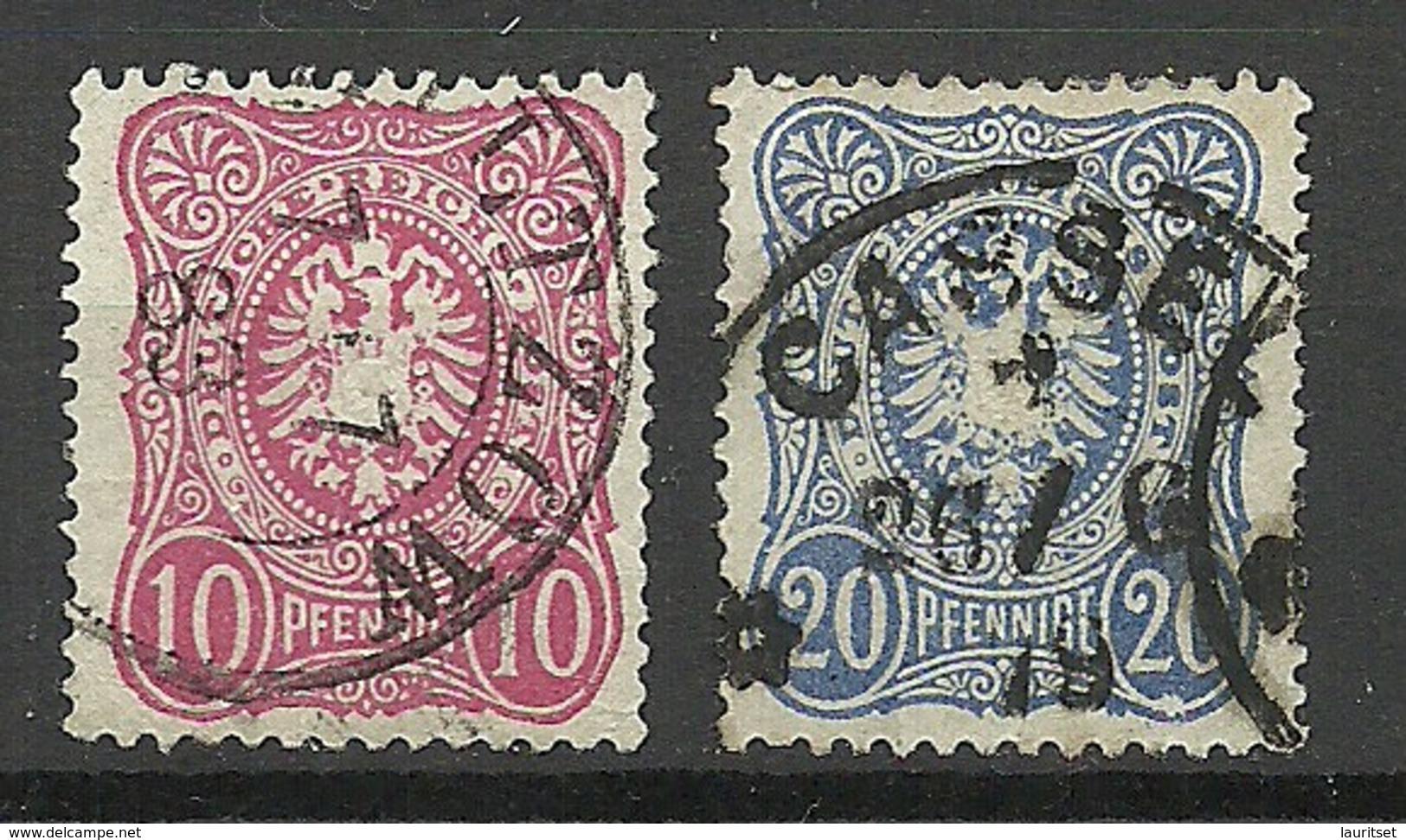 Deutsches Reich 1875/1879 Michel 33 - 34 O - Germania