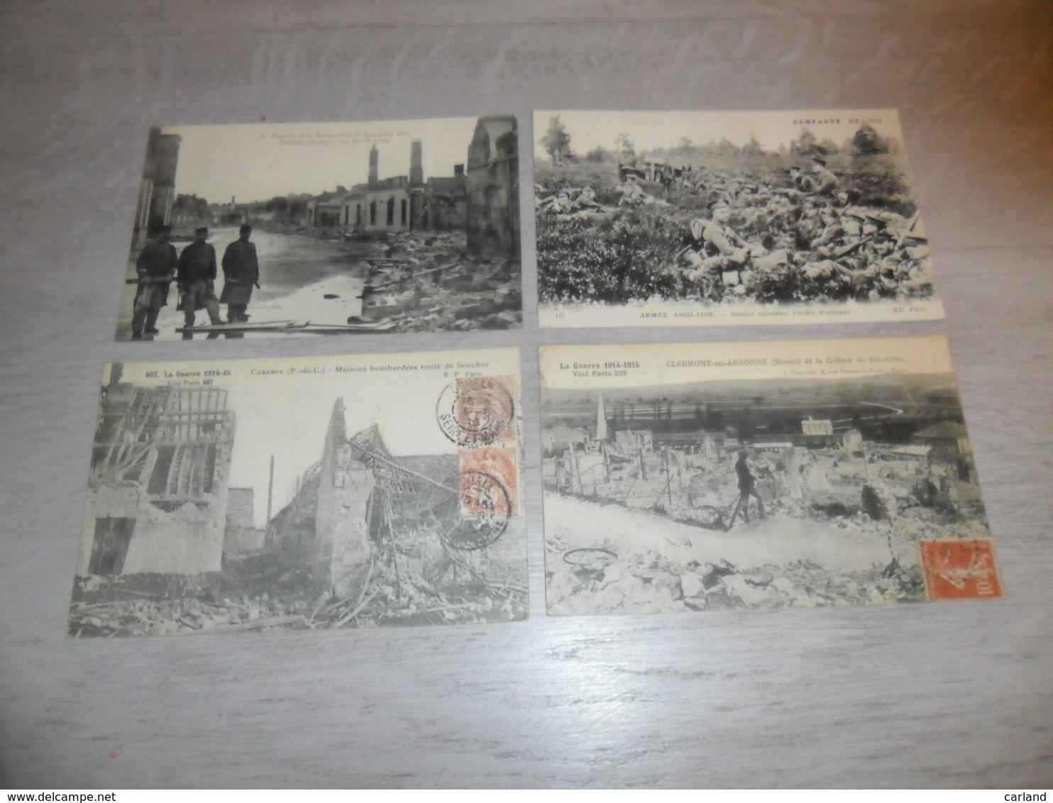 Beau Lot De 20 Cartes Postales De France Guerre  Ruines  Armée Soldat  Mooi Lot Van 20 Postkaarten Van Frankrijk Oorlog - 5 - 99 Postcards