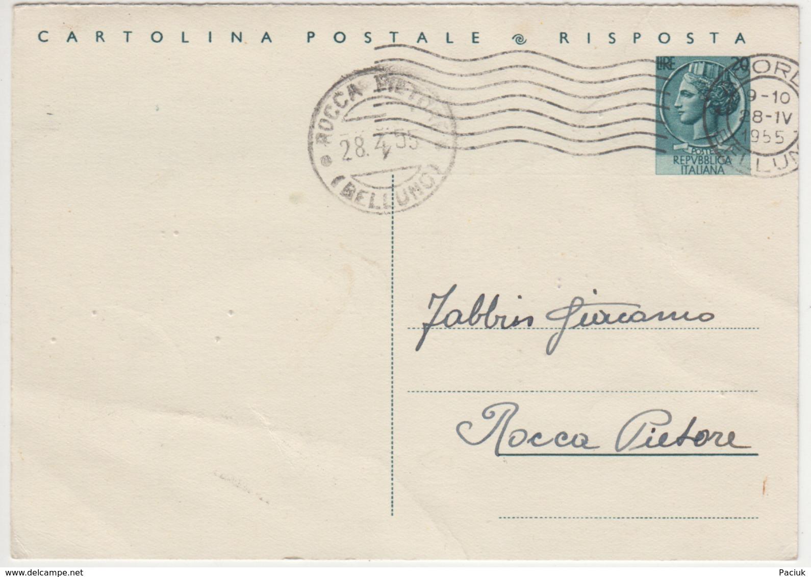 Cartolina Postale Risposta - Postal Services