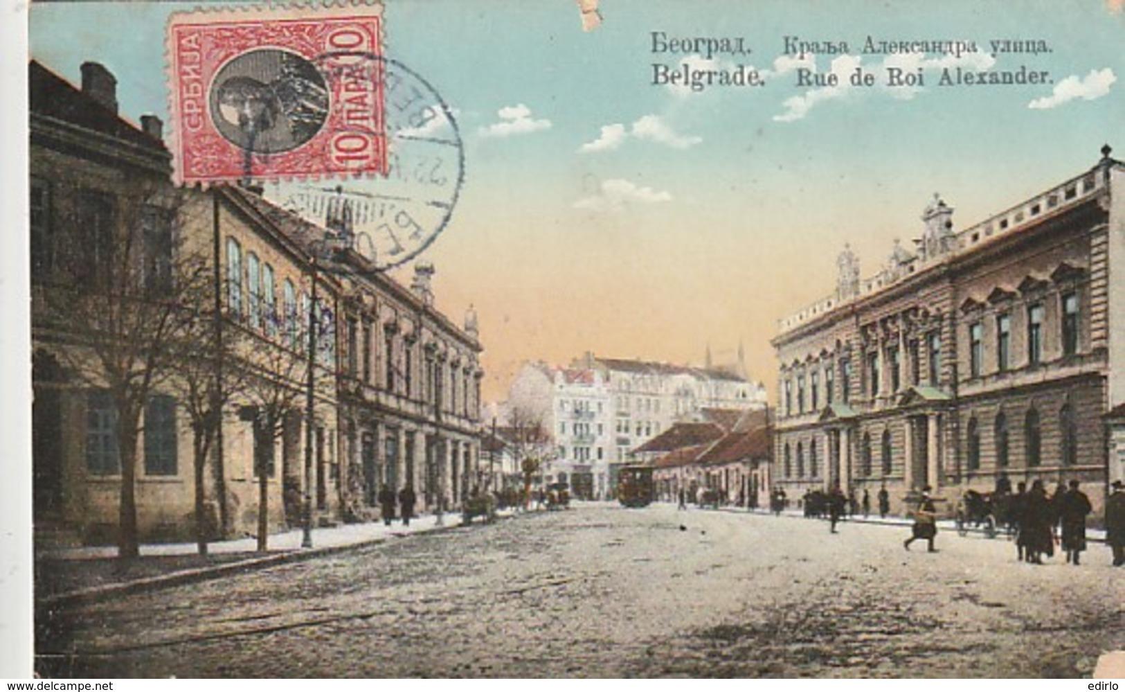 ***  ROMANIA ***   BELGRADE  Rue Du Roi Alexander -- TTB - Roumanie