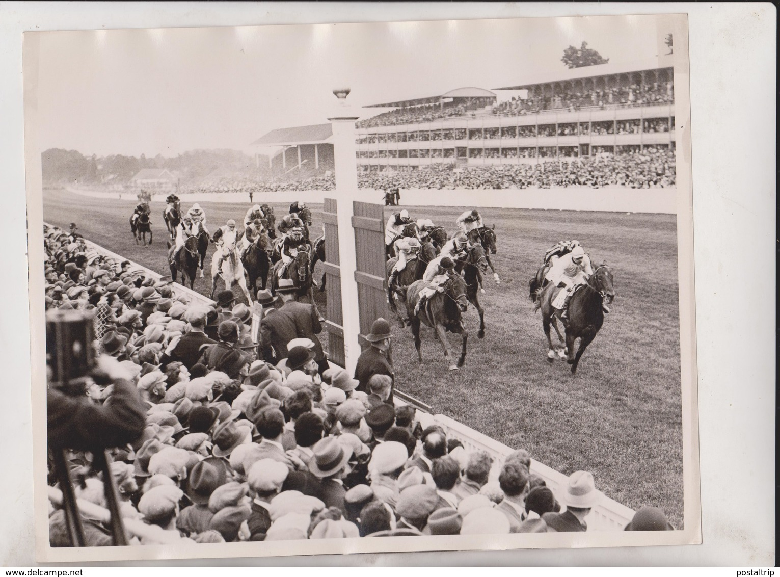 ASCOT KING AND QUEEN NOBLE STAR England HORSE RACING +- 25*20CMFonds Victor FORBIN (1864-1947) - Deportes