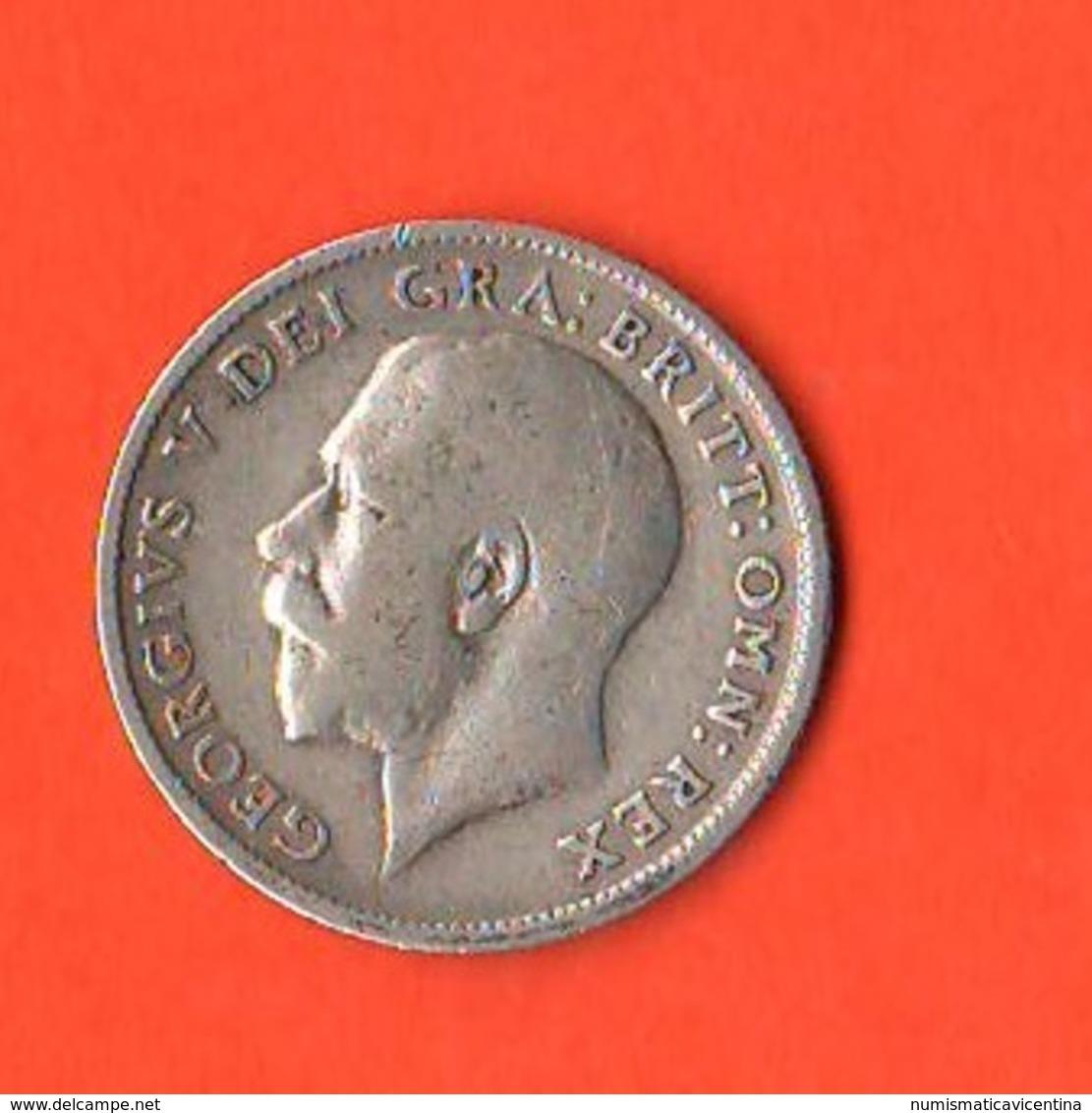 GB 6 Pence 1918 Gran Bretagna Great Britain Inghilterra Georgius V° Grande Bretagne - 1902-1971 : Monete Post-Vittoriane