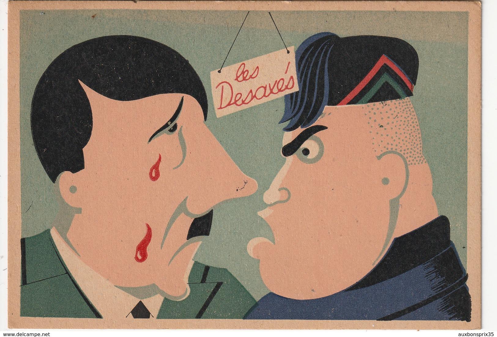 LES DESAXES - HITLER ET MUSSOLINI - Humoristiques