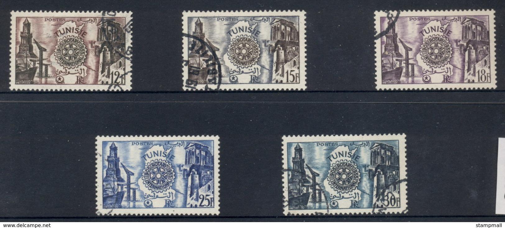 Tunisia 1955 Rotary Intl. 50th Anniv. FU - Tunisia (1956-...)