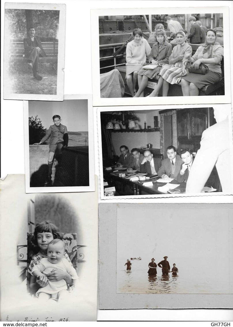 Lot 6 Photos Anciennes -personnes Anonymes - Anonymous Persons