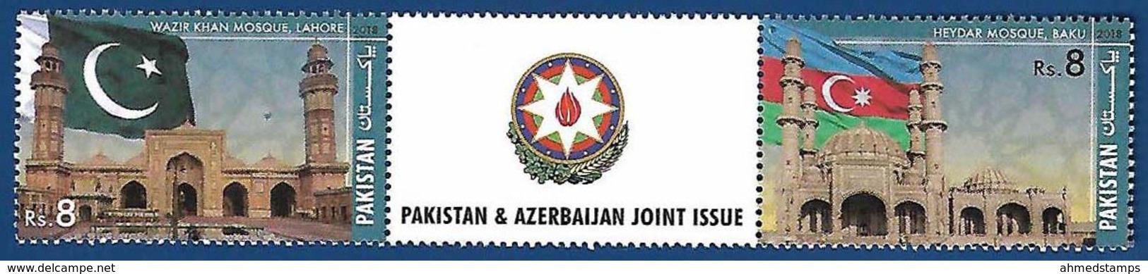PAKISTAN MNH 2018 JOINT ISSUE WITH AZERBAIJAN FLAG - Pakistan