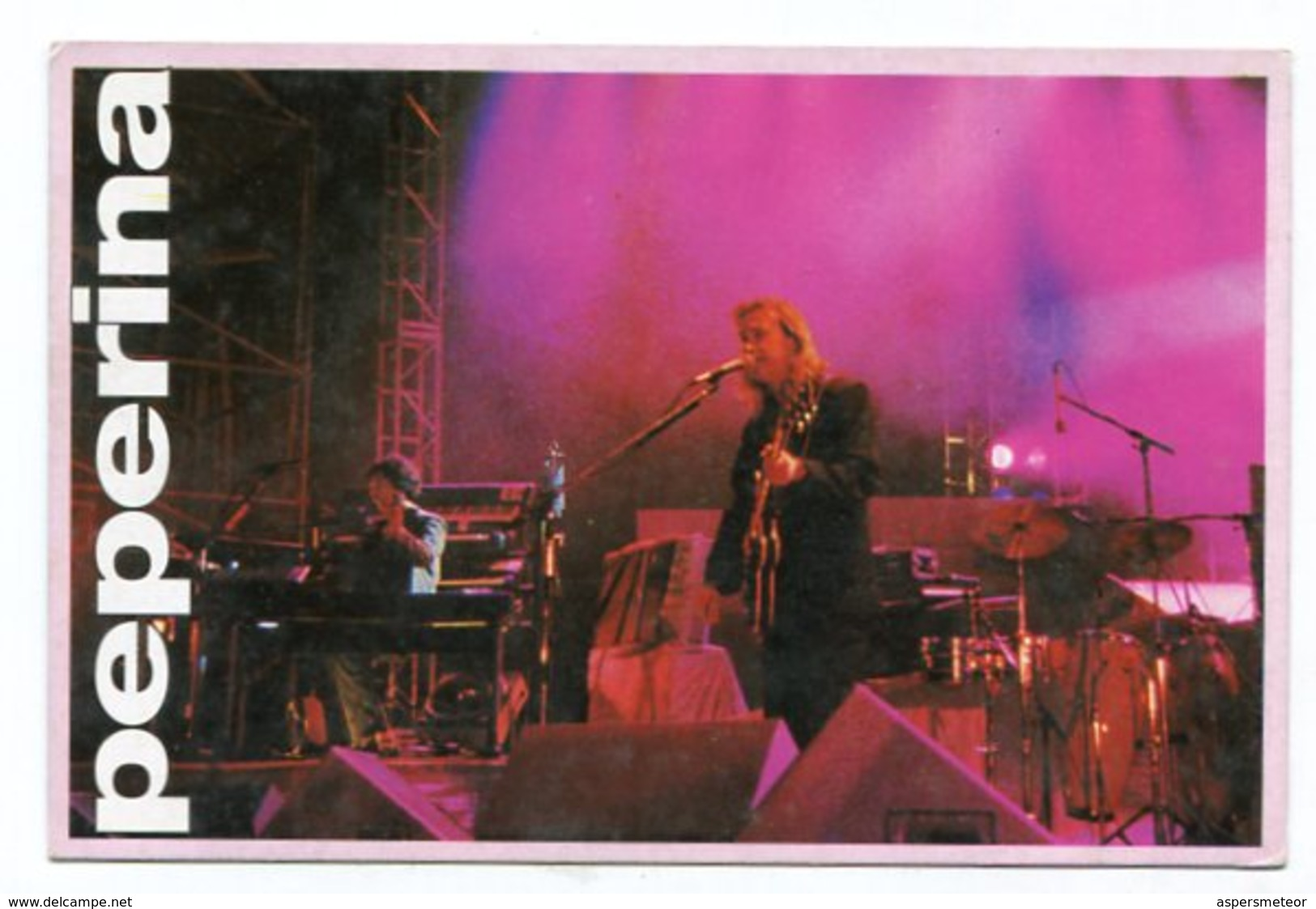 PEPERINA, CON PARTICIPACION DE SERU GIRAN, GRUPO MUSICA MUSIC - POSTAL PUBLICIDAD ARGENTINA CIRCA 2000 - LILHU - Música Y Músicos