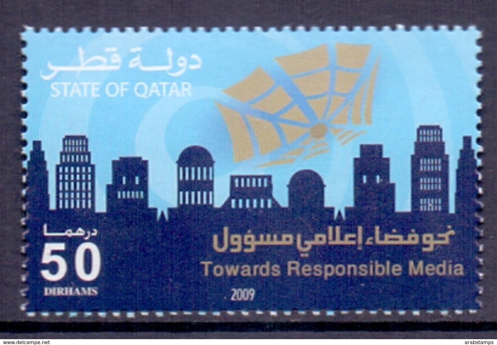 2009 QATAR Towards  Responsible Media 1 Value MNH - Qatar