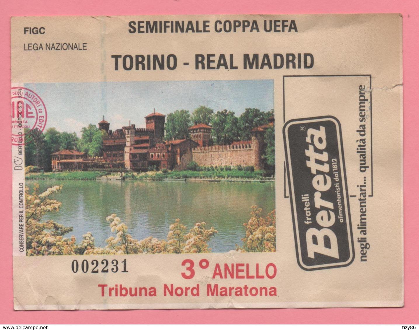 Biglietto Ingresso Stadio Torino Real Madrid - Tickets - Vouchers