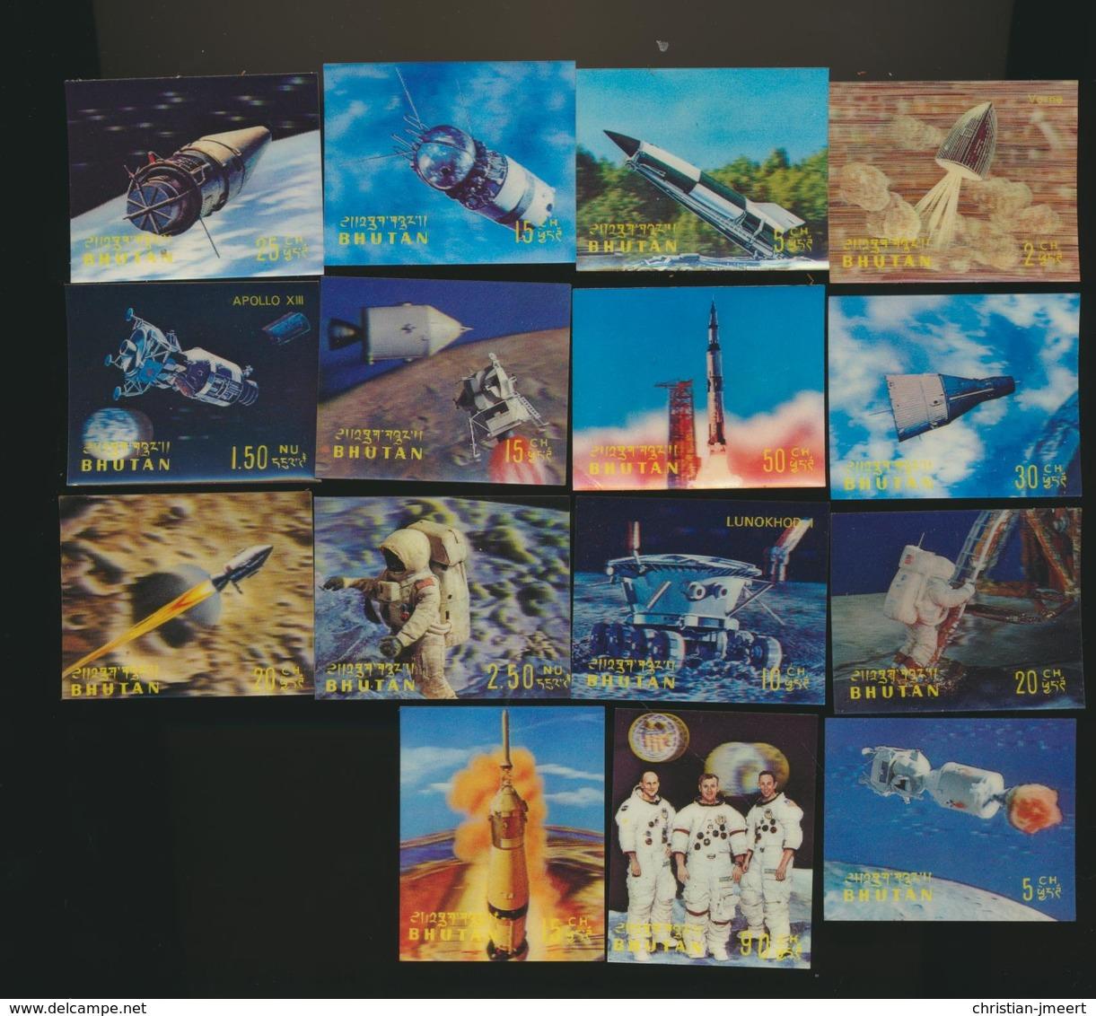 ESPACE  SPACE  Lot De 15 Timbres 3 D Plastic Stamps MHX - Space