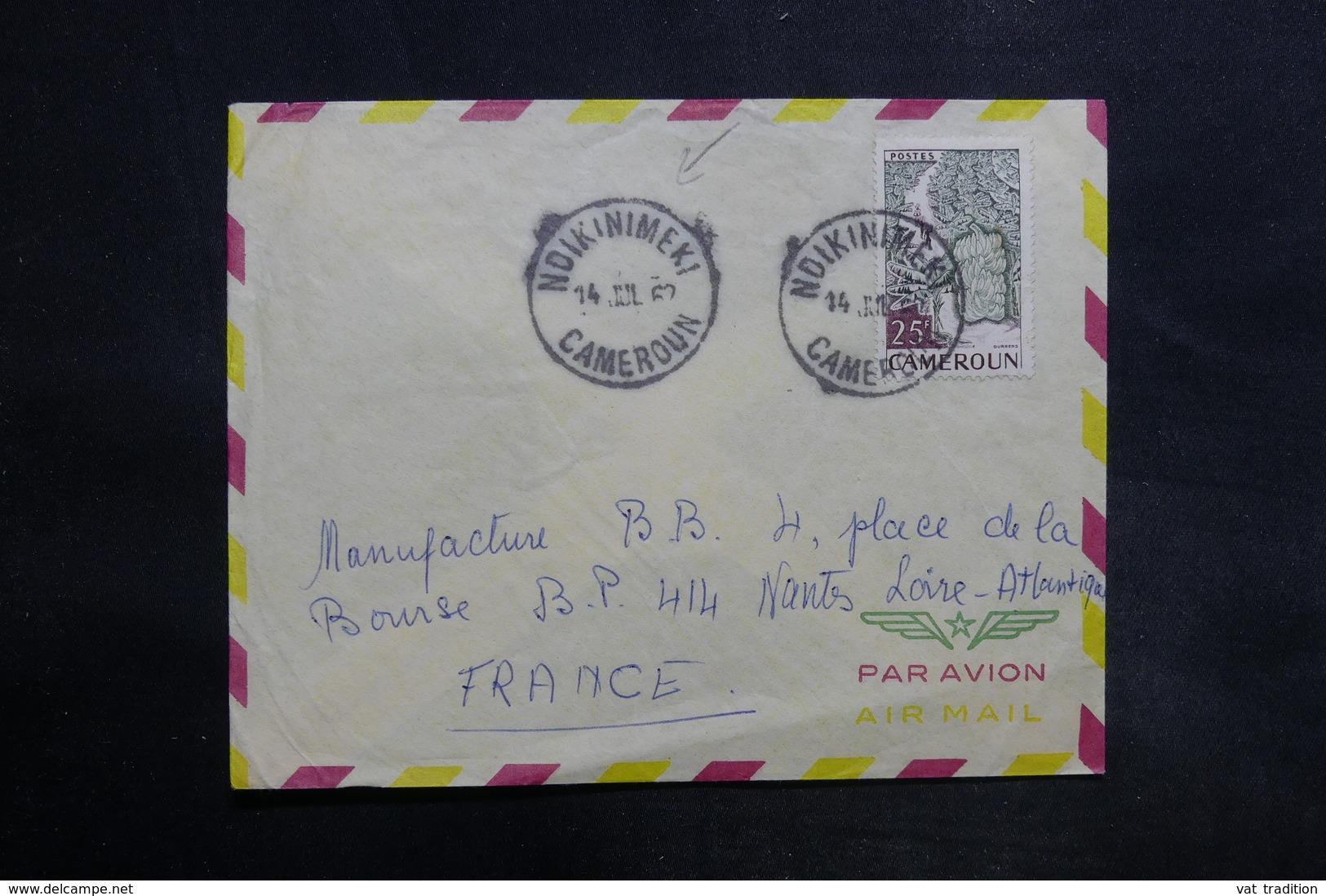 CAMEROUN - Enveloppe De Ndikinimeki Pour La France En 1962, Affranchissement Plaisant - L 35558 - Camerun (1960-...)