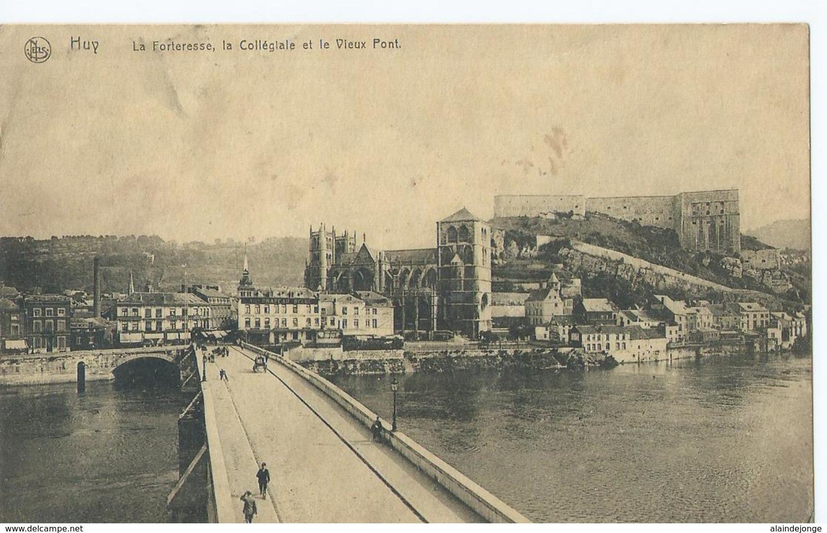 Hoei - Huy - La Forteresse, Le Collégiale Et Le Vieux Pont - Ern. Thill Serie 26 No 5 - Huy