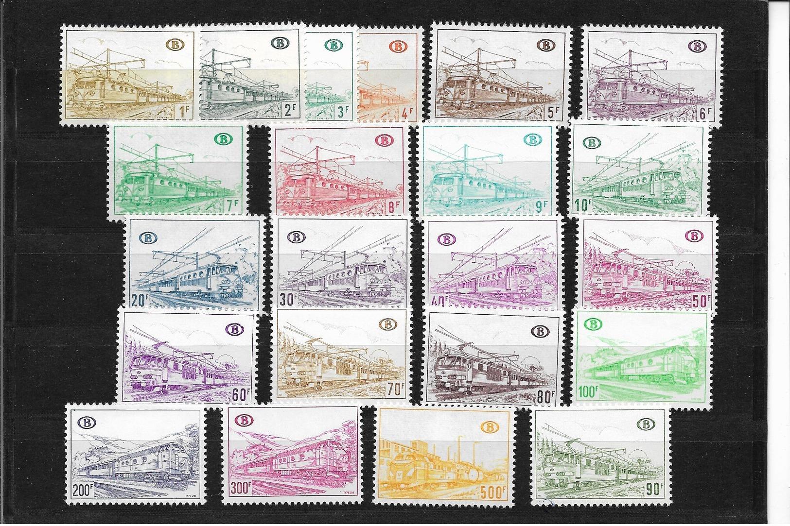 Locomotieven, OCB Nrs TR 378/98 En 424, Postgaaf - 1952-....