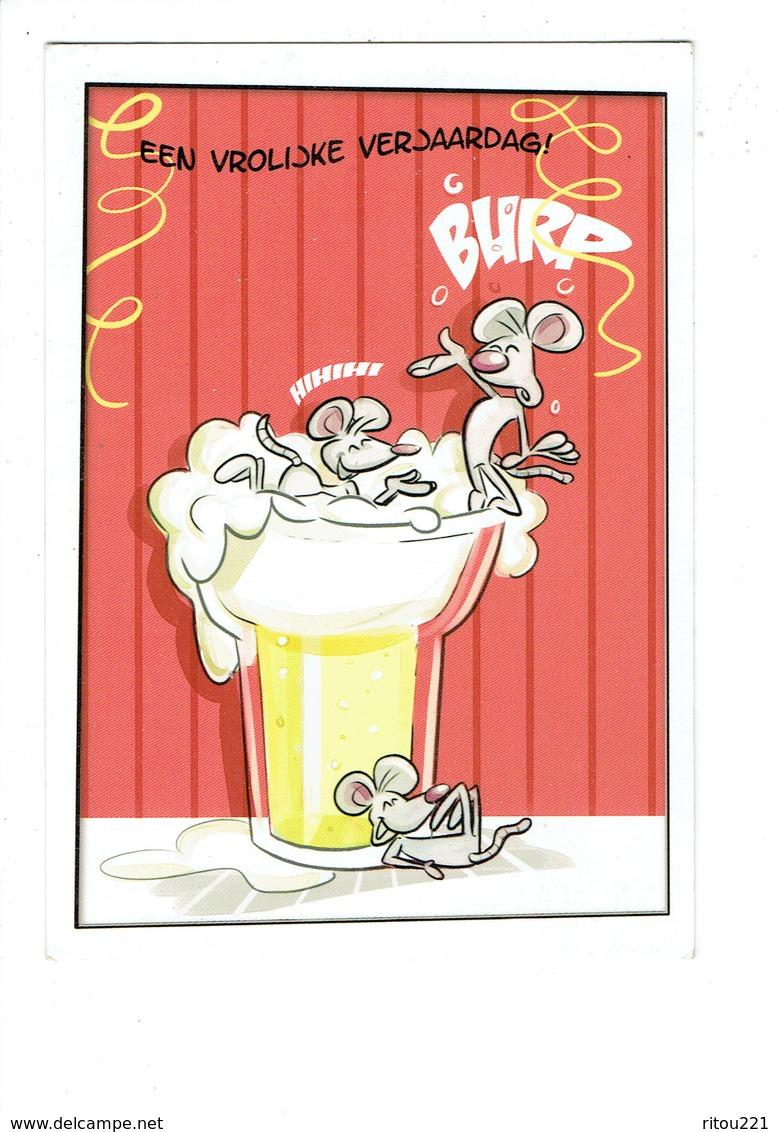 Cpm - Illustration Marion Van De Wiel - Chope De Bière Souris Rat - Künstlerkarten