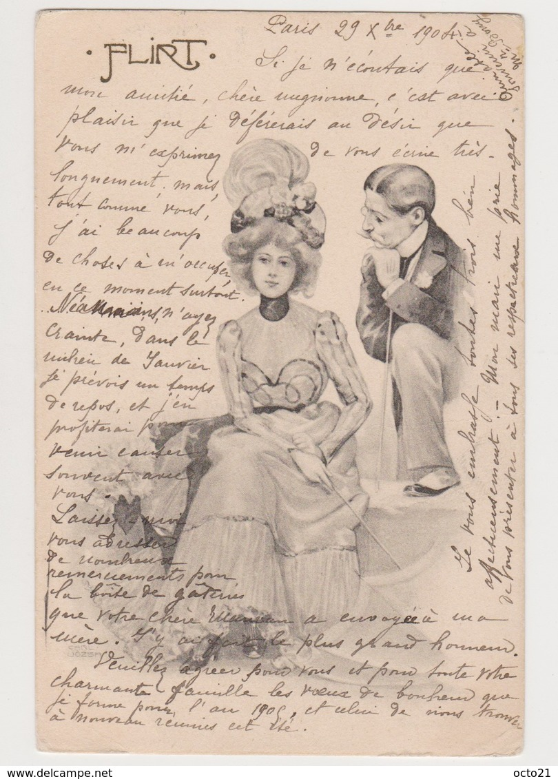 Carte Fantaisie  / Couple . Flirt - Couples