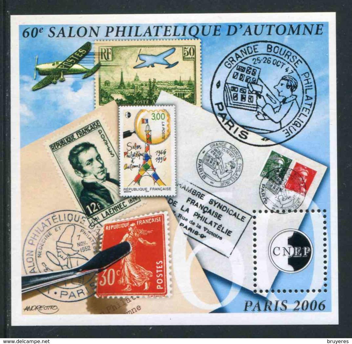 """FEUILLET-SOUVENIR** De 2006 De La CNEP """"60e SALON PHILATELIQUE D'AUTOMNE à PARIS - 60e Anniversaire"""" - CNEP"""