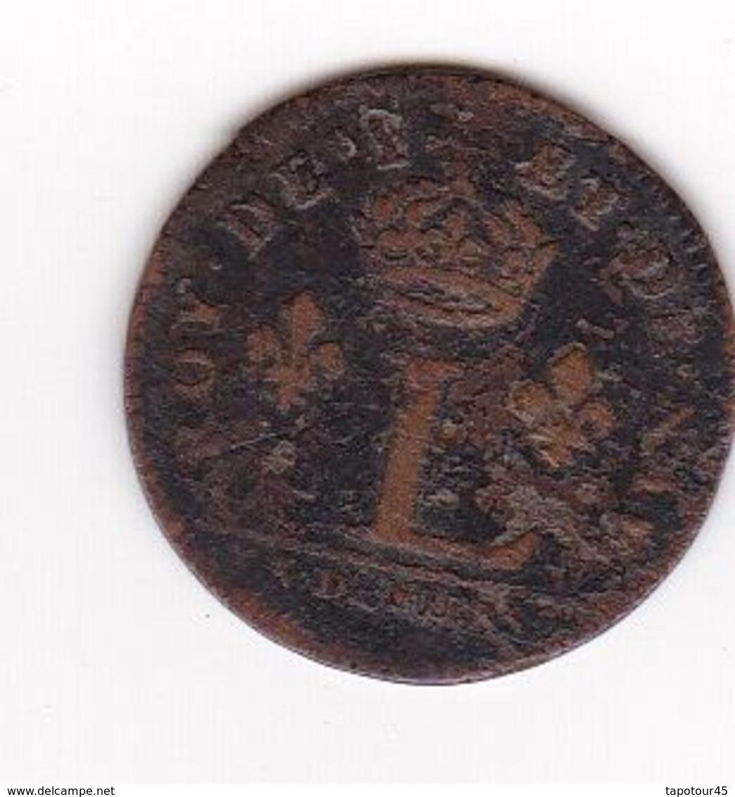 16) Lovys XIIII      /Liard à L (couronné) 1649 /3 Deniers - 987-1789 Monnaies Royales