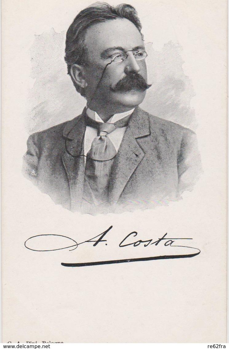Andrea Costa, Politico Italiano  (Imola 1851 - 1910) - F.p. -  Anni 1900 - Uomini Politici E Militari