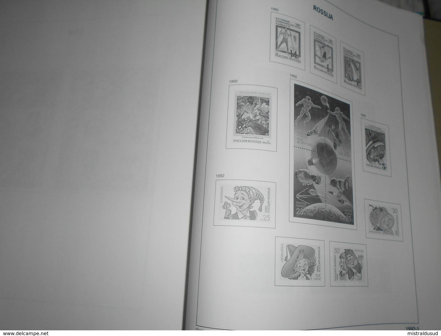 Album Davo ,urss Et Russie  Pages De 1980 A 1994 Environ 2kg - Albums & Binders