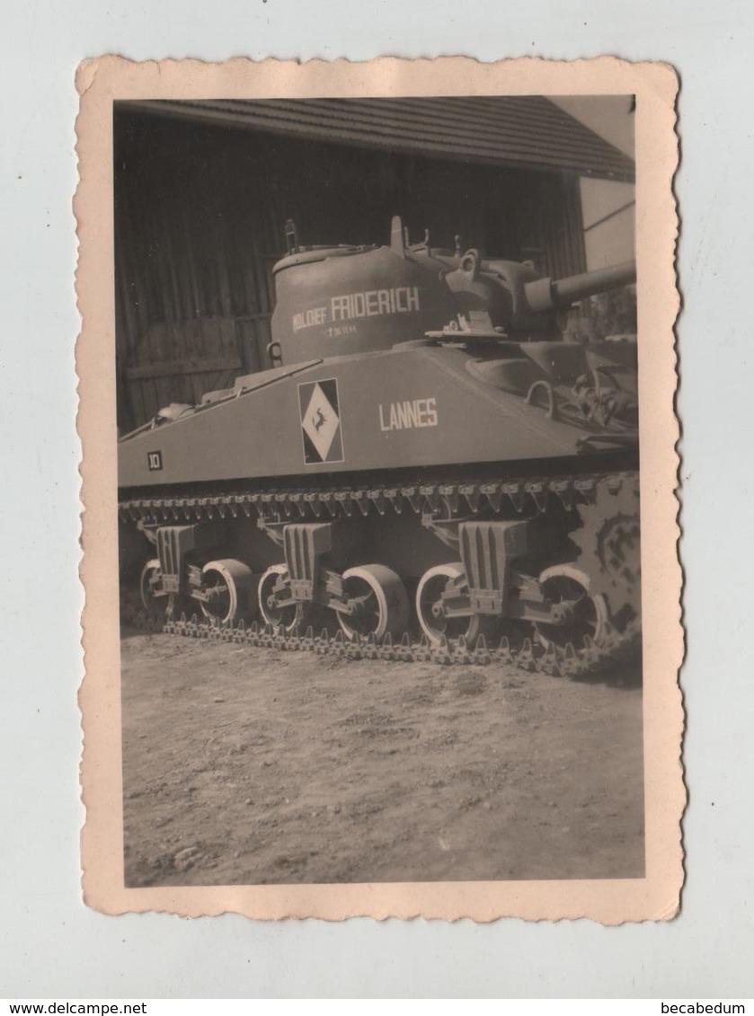 Photo Originale  Char Tank Lannes Friderich DB 1945 à Identifier - Krieg, Militär