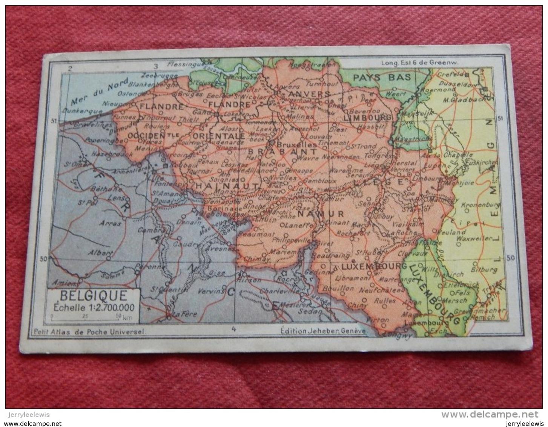 CARTE GEOGRAPHIQUE  - Belgique  - - Carte Geografiche