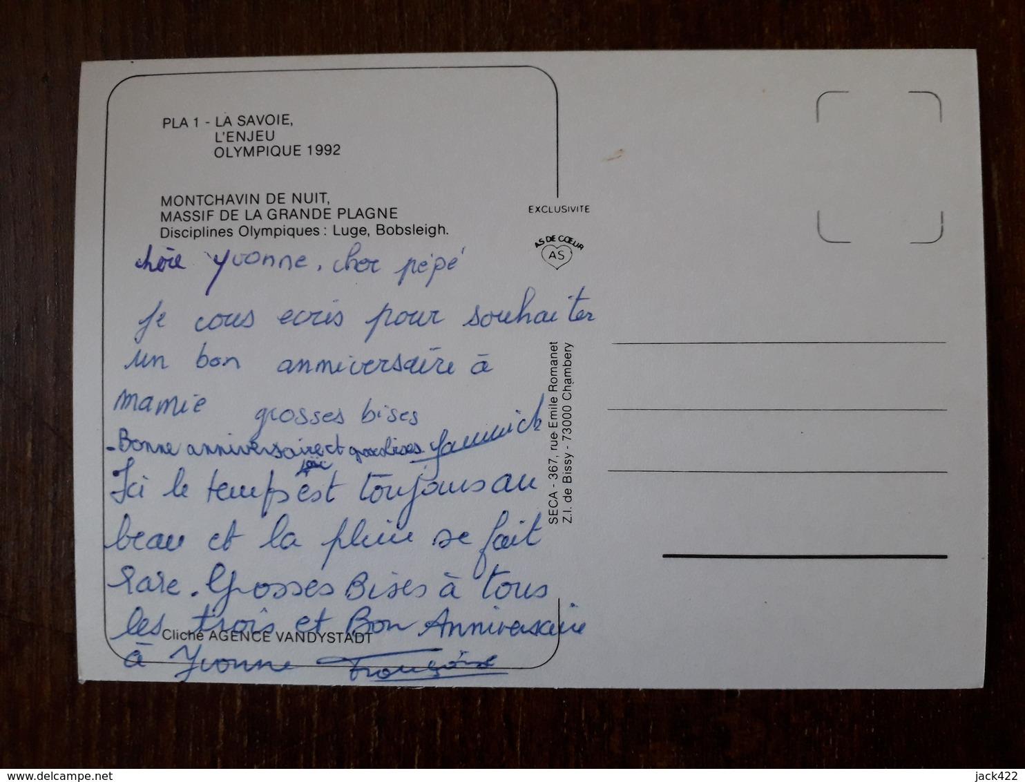 L21/913  MONTCHAVIN DE NUIT - MASSIF DE LA GRANDE PLAGNE - DISCIPLINES OLYMPIQUES LUGE , BOBSLEIGH - France