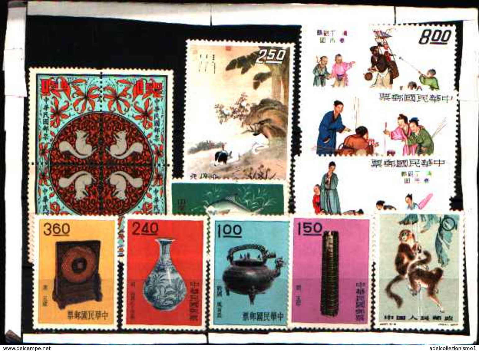 5935BIS ) LOTTO DI FRANCOBOLLI DI FORMOSA-CERAMICHE-BRONZO-QUADRI -MNH** - 1945-... Republic Of China
