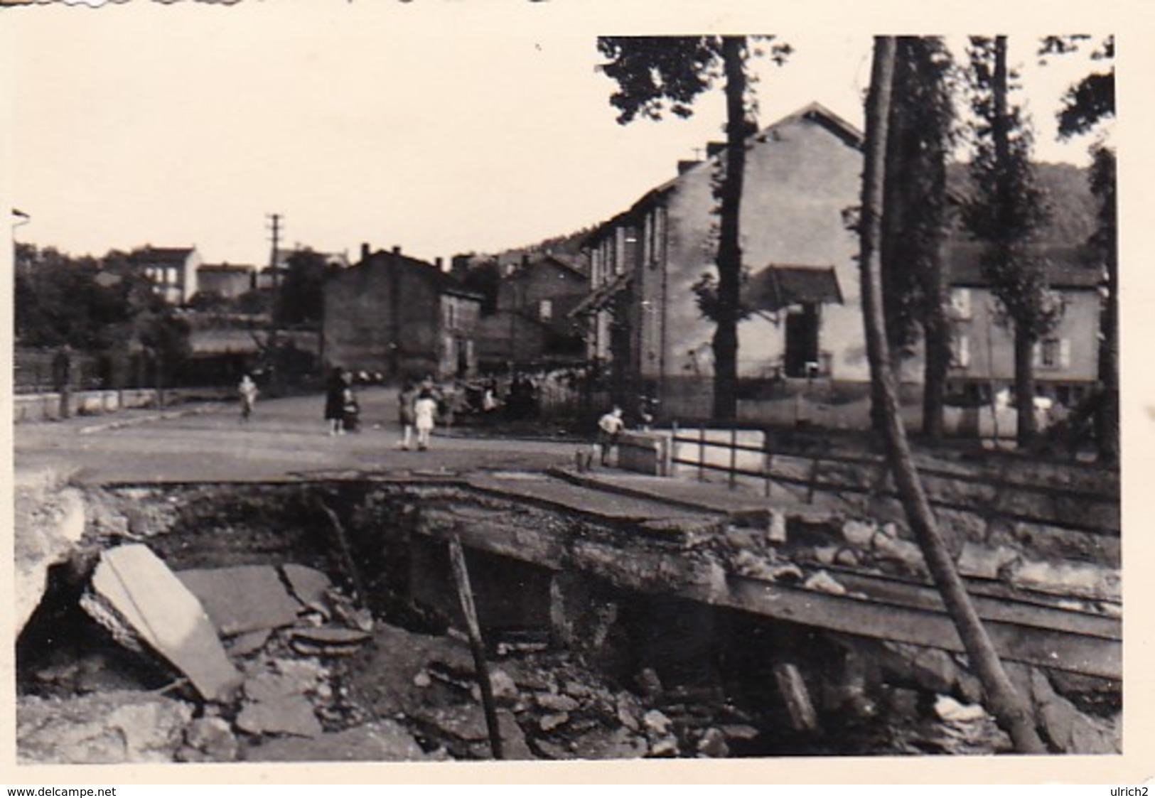 Foto Zerstörte Brücke In Elwangen - 2. WK - 9*6cm  (42541) - War, Military