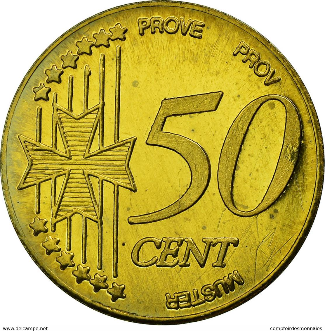 Malte, Fantasy Euro Patterns, 50 Euro Cent, 2004, SPL, Laiton - Malta