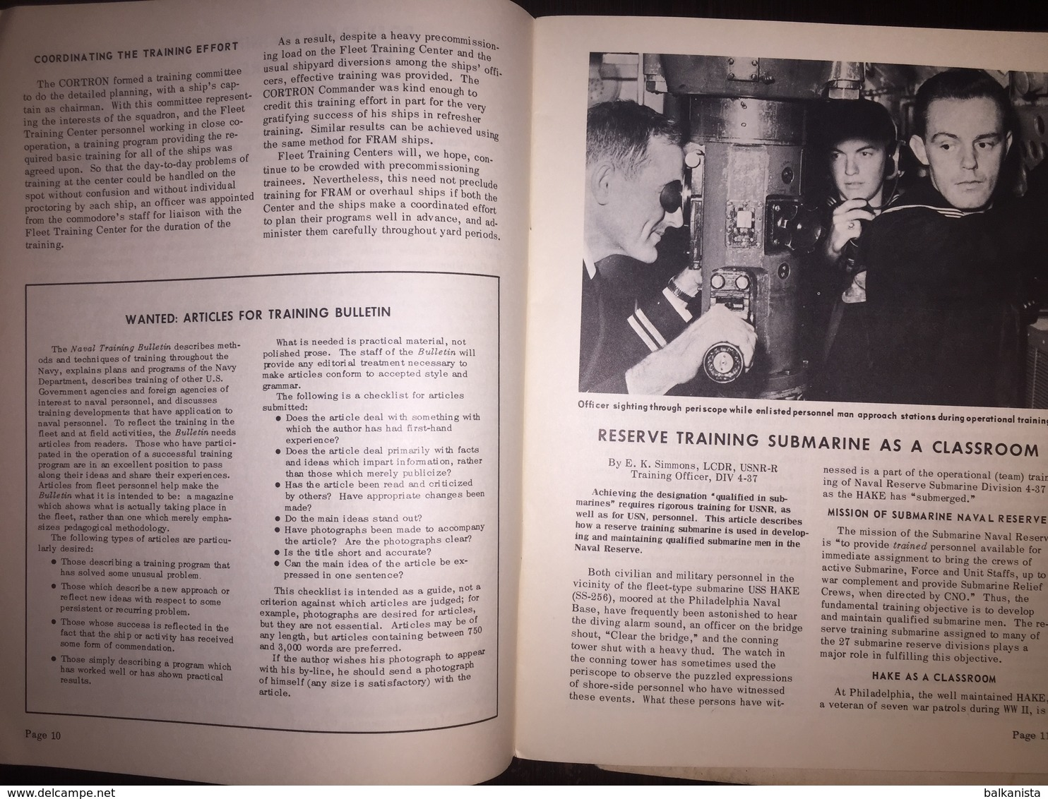 American US Army Naval Training Bulletin Winter 1962-1963 - Naval Institute - Forces Armées Américaines