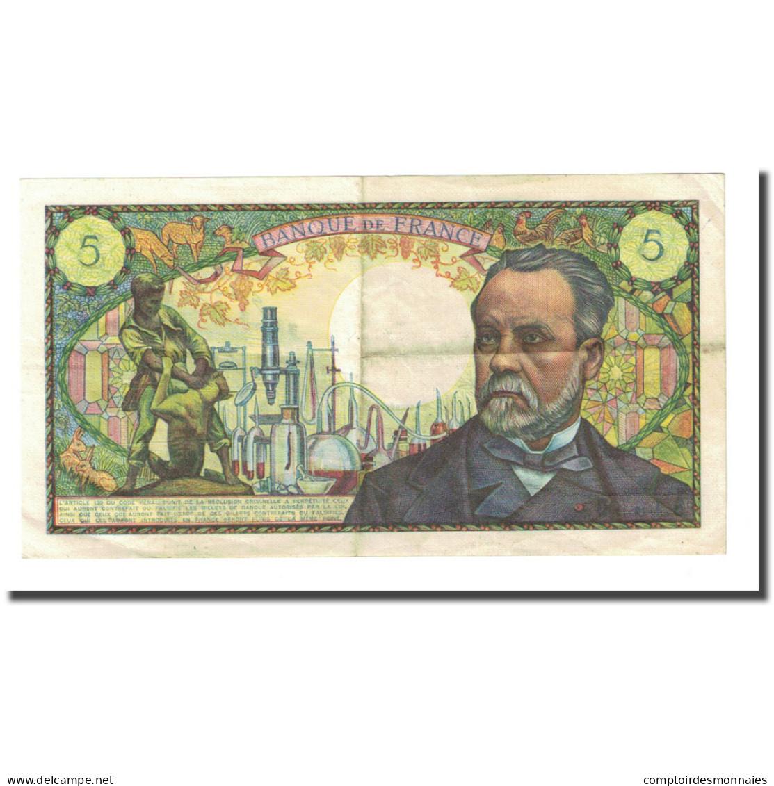 France, 5 Francs, Pasteur, 1968-04-04, TTB, Fayette:61.7, KM:146b - 5 F 1966-1970 ''Pasteur''