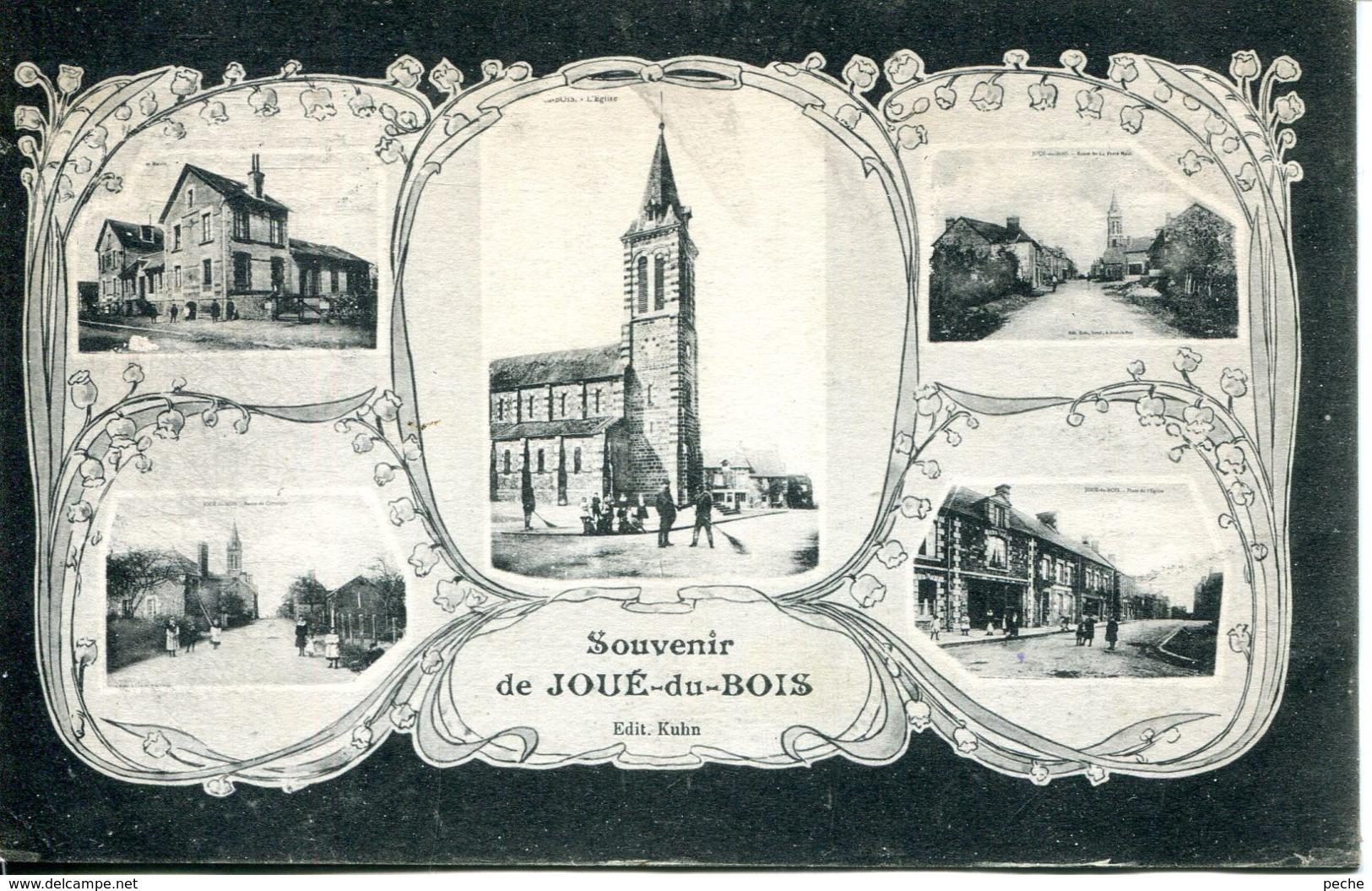 N°74469 -cpa Souvenir De Joué Du Bois -multivues- - Frankreich