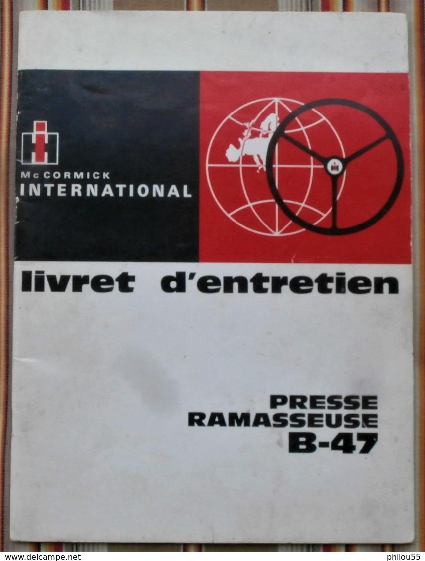 75 PARIS 19e  INTERNATIONAL HARVESTER  MC CORMICK Livret D Entretien PRESSES RAMASSEUSES 435 Et 445 - Traktoren