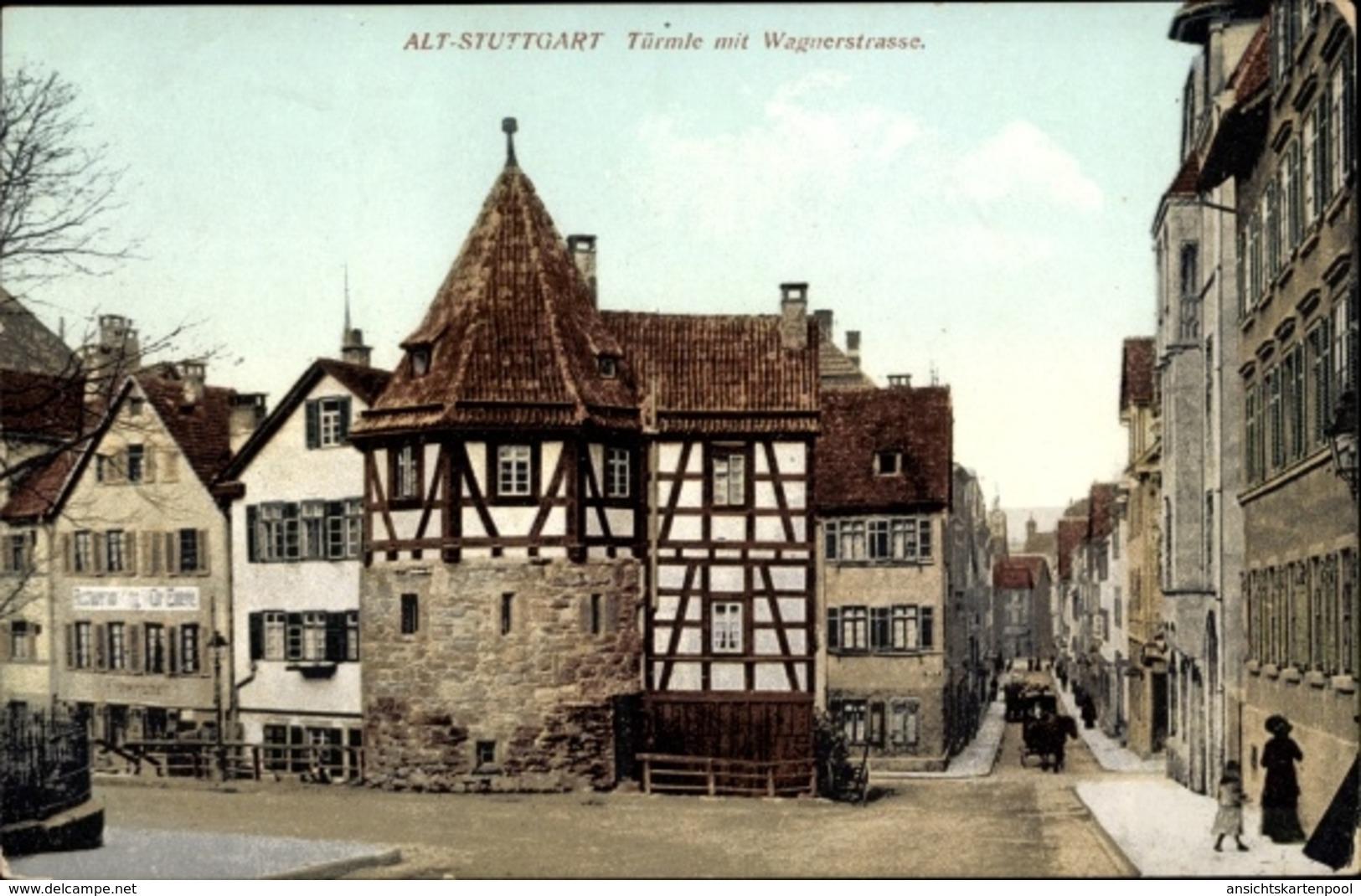 Cp Stuttgart In Bade Württemberg, Türmle Mit Wagnerstraße - Autres