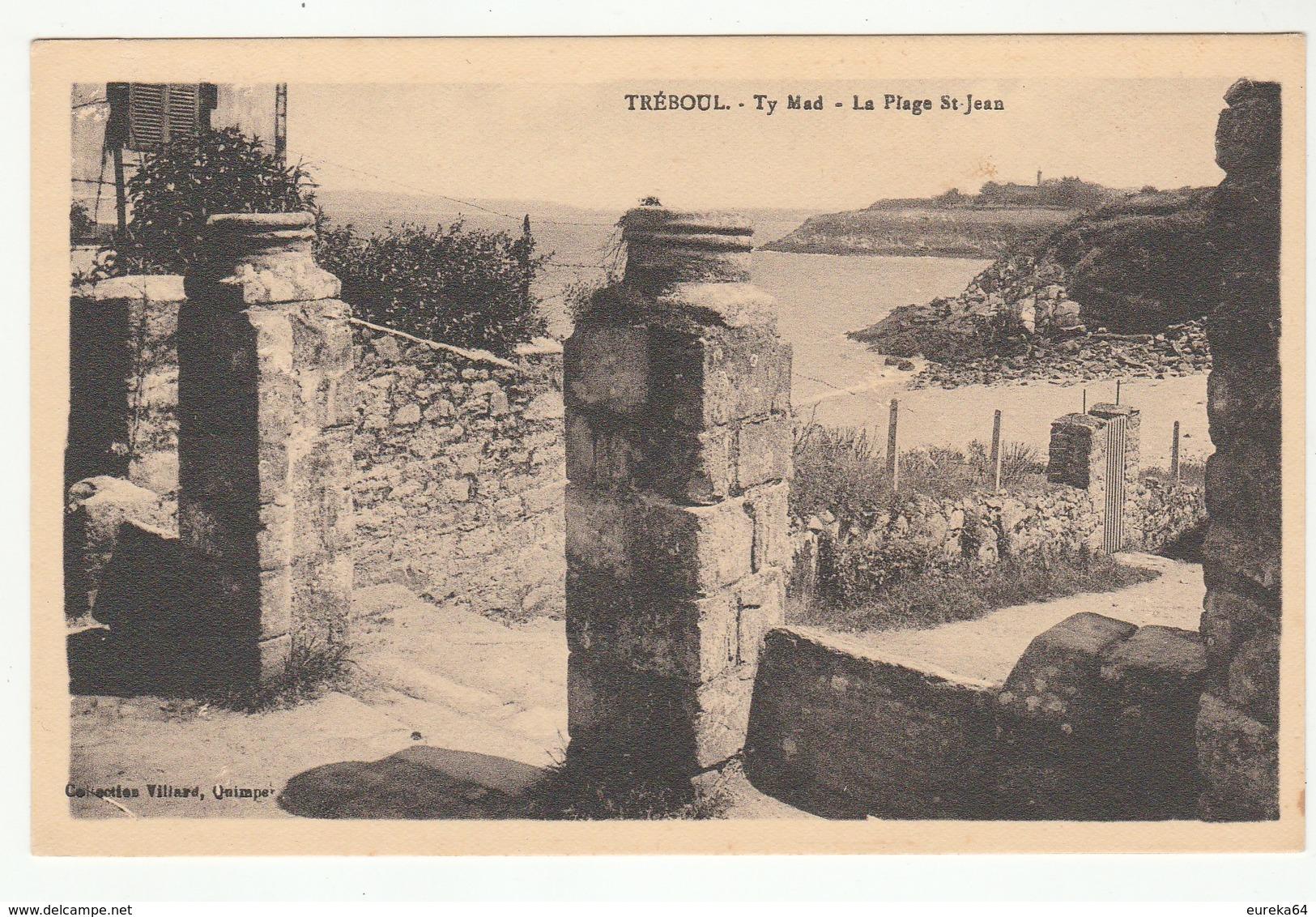 TRÉBOUL -  Ty Mad  - LA PLAGE ST-JEAN - édit. Villard - Format CPA - - Tréboul