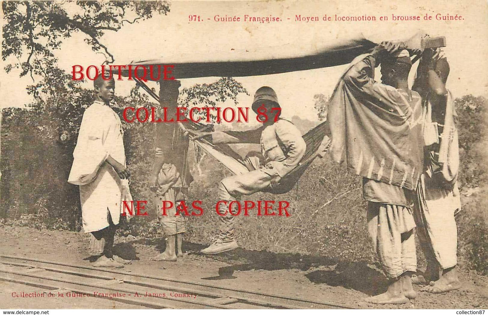 ☺♦♦ GUINEE - TRANSPORT < MOYEN De LOCOMOTION En BROUSSE - HAMAC < N° 971 Edition A. James - French Guinea
