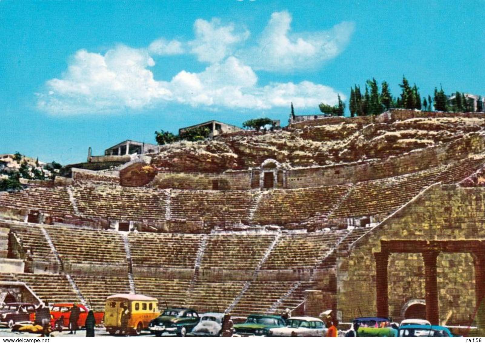 1 AK Jordanien Jordan * Das Antike Römische Theater - Erbaut Von 130 Bis 160 Nach Chr. In Der Hauptstadt Amman * - Jordanien