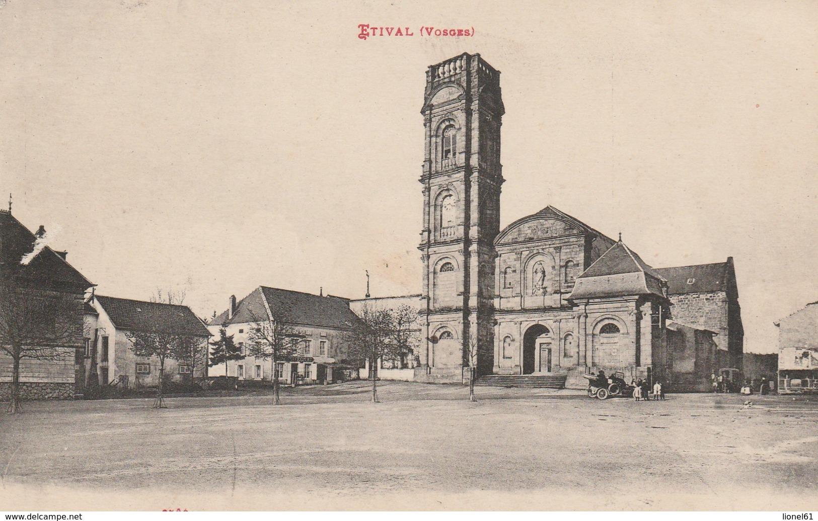 ETIVAL : (88)  Place De L'Abbaye - Etival Clairefontaine