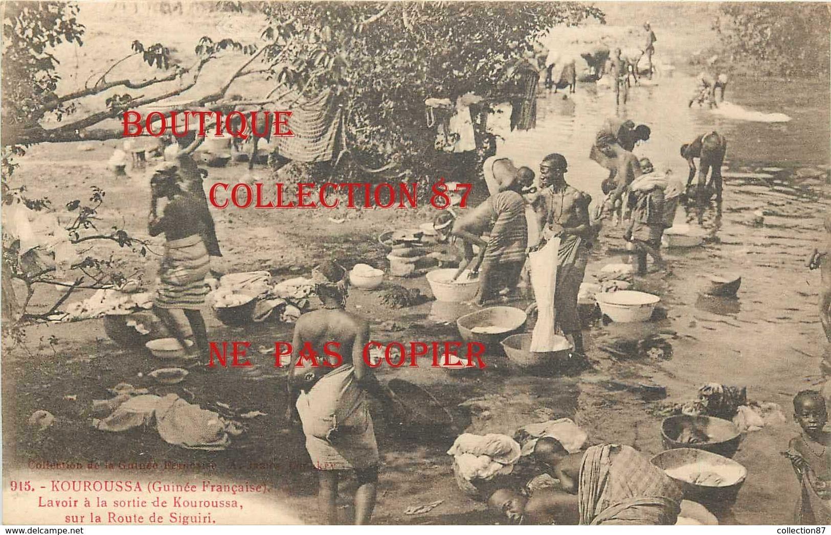 ☺♦♦ GUINEE - LAVOIR à La SORTIE De KOUROUSSA Sur La ROUTE De SIGUIRI - JEUNE FILLE LAVEUSE < N° 915 Edition A. James - French Guinea