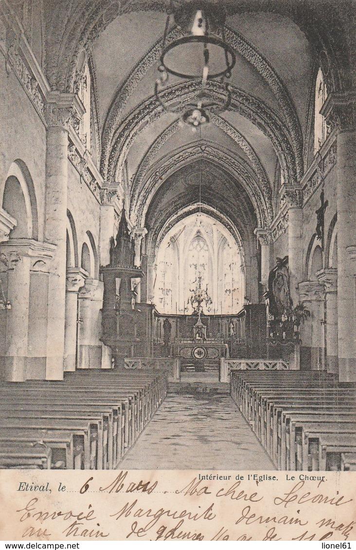 ETIVAL : (88) Intérieur De L'église. Le Coeur - Etival Clairefontaine