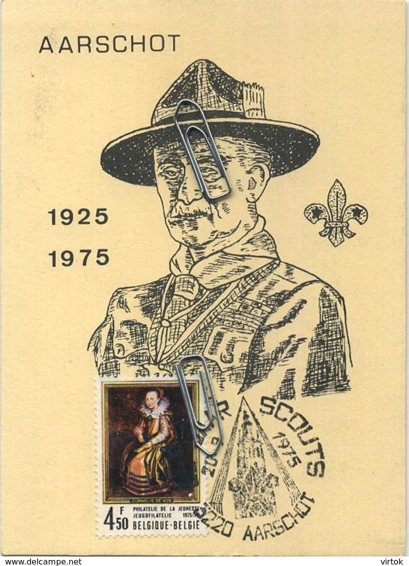 AARSCHOT :  Scouts :  Powell  1925 - 1975  (  Geen Postkaart  *** Kaart Met Zegel En Cachet  ) - Aarschot