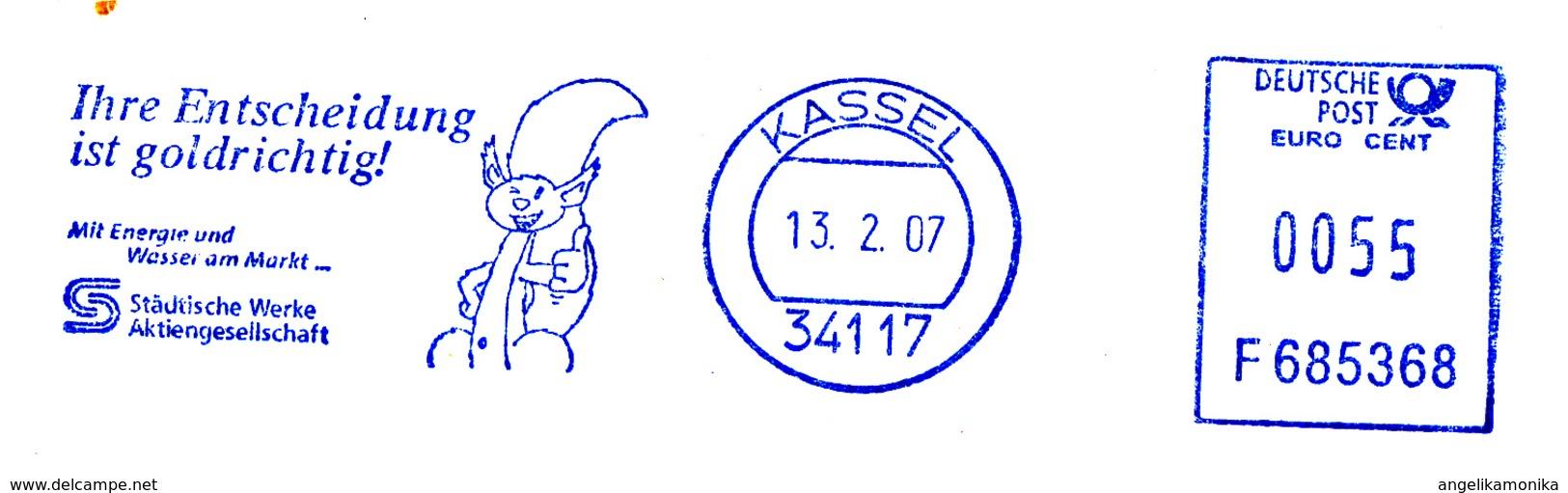 Freistempel 1777 Eichhörnchen - BRD
