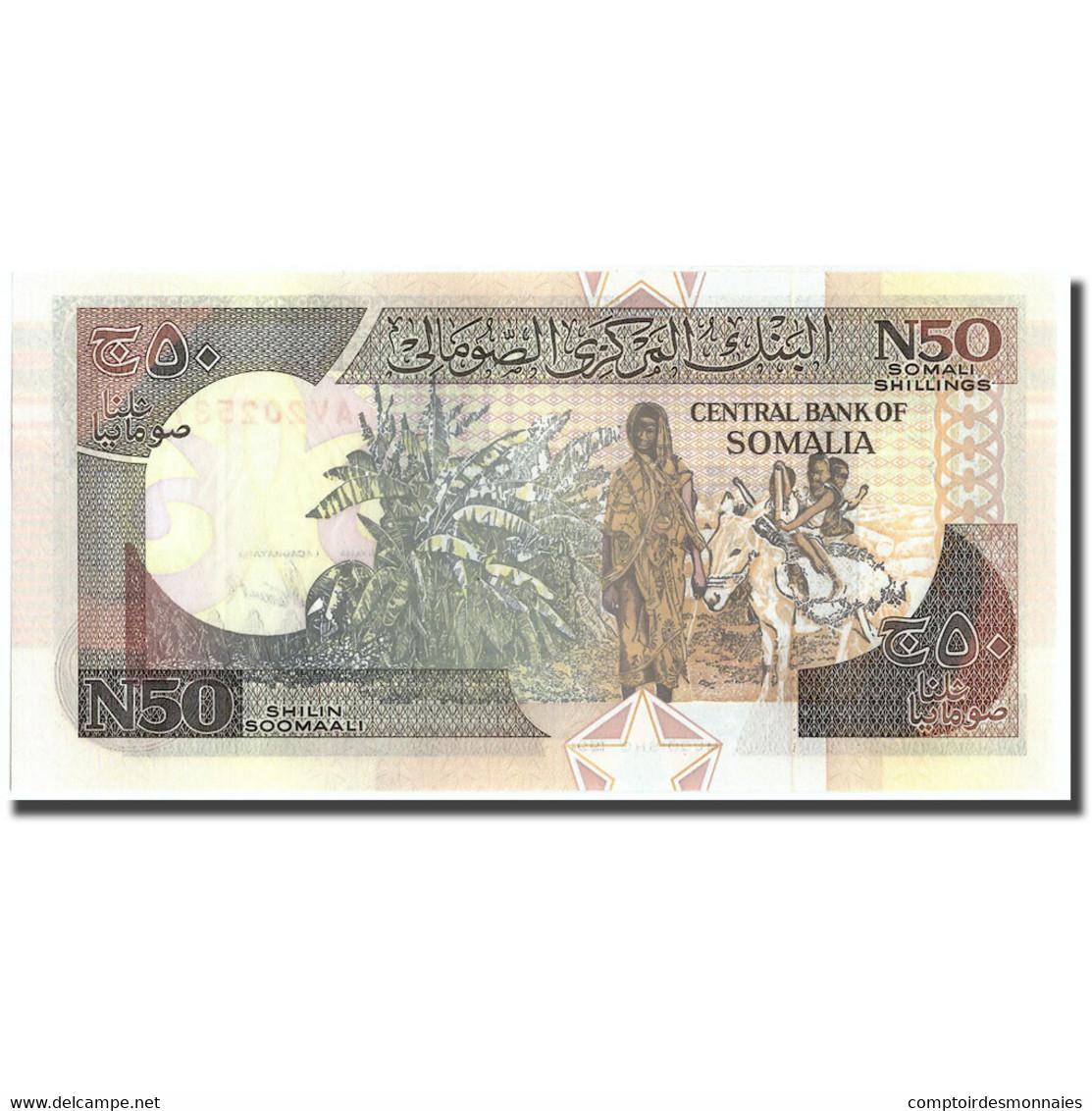 Billet, Somalie, 50 N Shilin = 50 N Shillings, 1990, 1990, KM:R2, SPL - Somalia