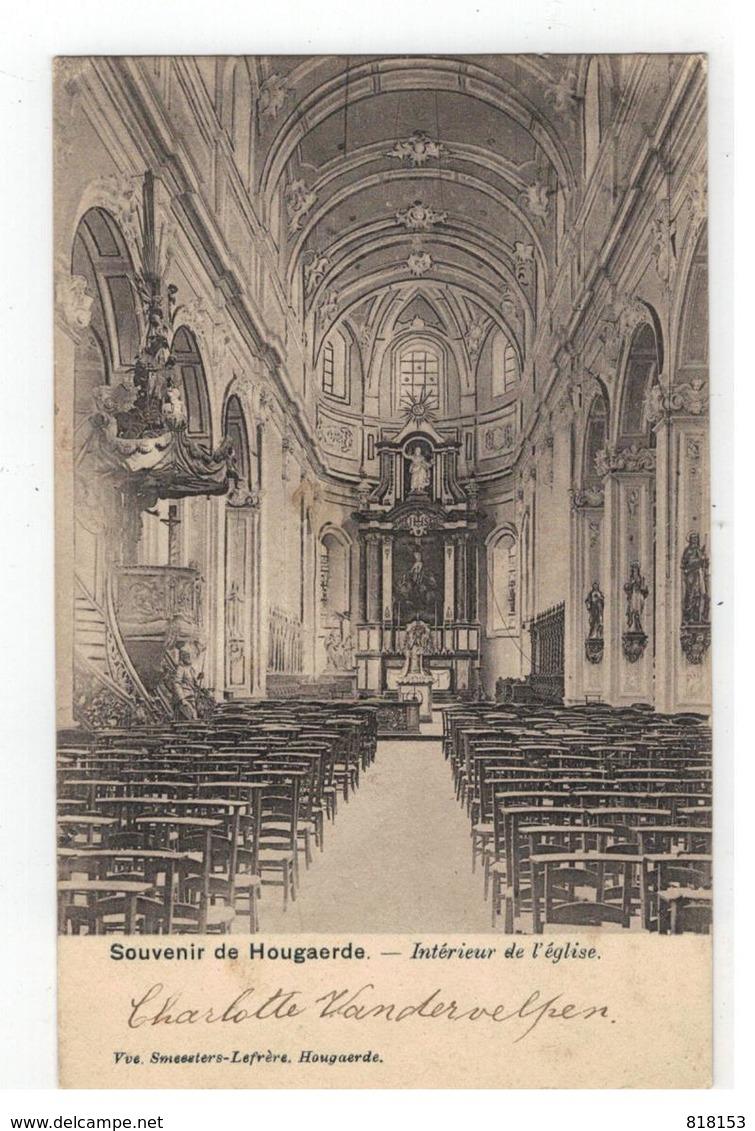 Hoegaarden Souvenir De  Hougaerde - Intérieur De L'église 1902 - Hoegaarden