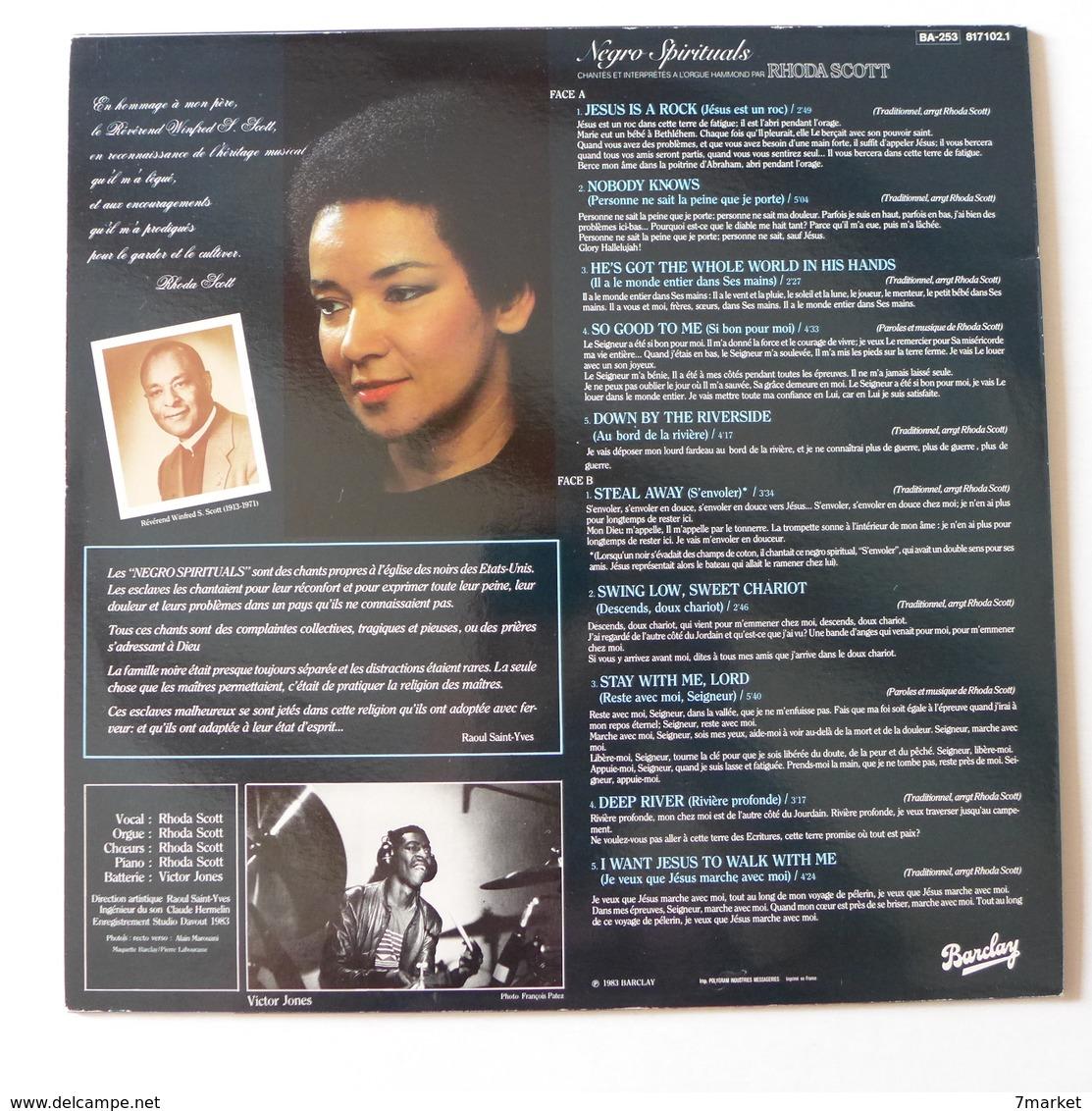 LP/    Rhoda Scott - Negro Spirituals - Jazz