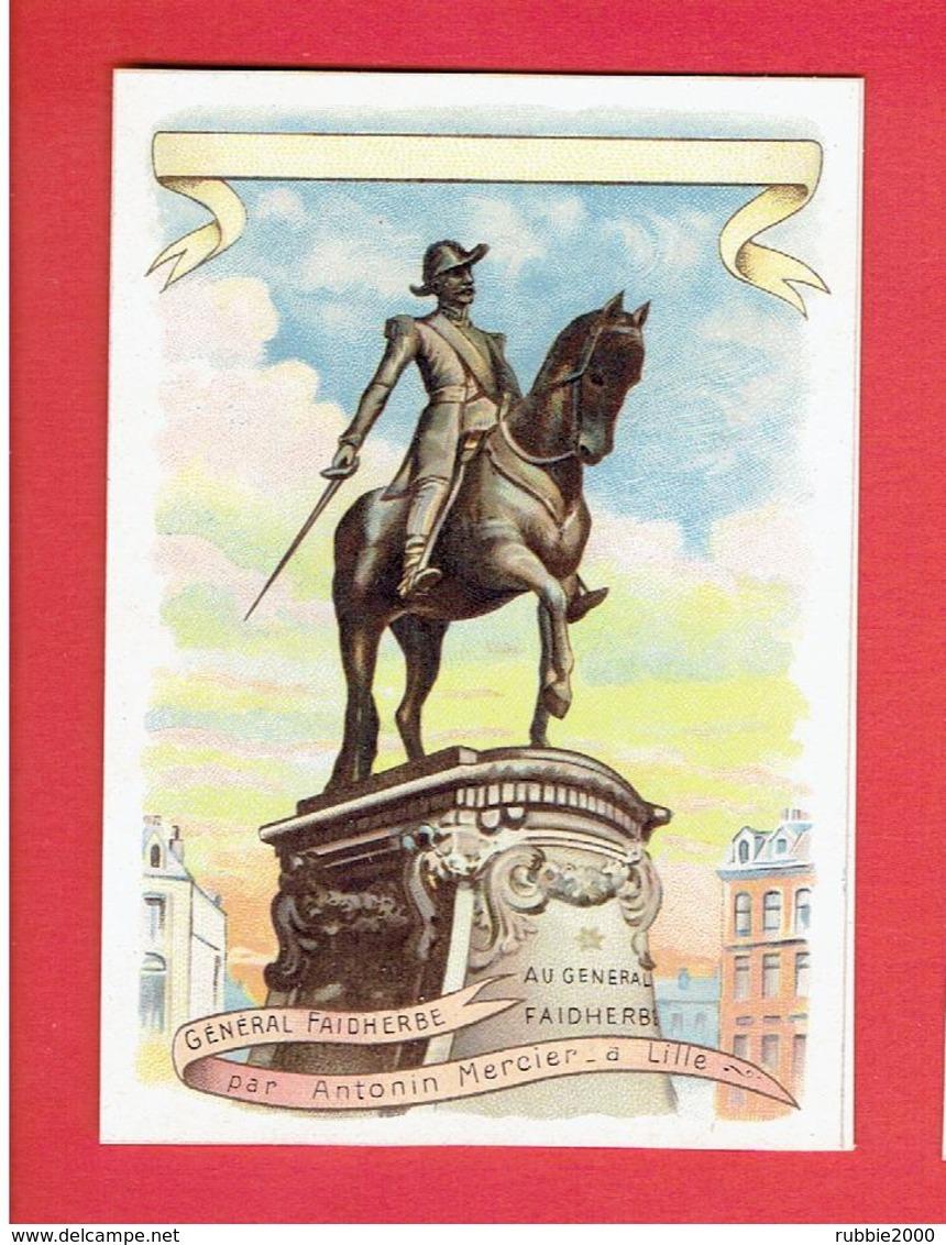 LILLE STATUE DE GENERAL FAIDHERBE PAR ANTONIN MERCIER IMAGE CHROMO  EN TRES BON ETAT - Lille